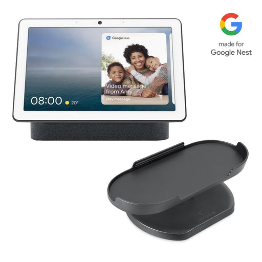 Google Nest Hub Max with Made for Google Adjustable Stand Bundle