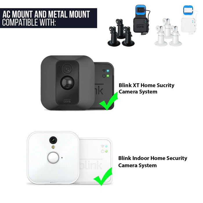 AC Outlet Mount Compatible with Blink XT Camera Sync Module and 3-Pack Metal Mount for Blink XT Indoor and Outdoor Bundle - Perfect Accessories for Your Blink Home Security System (Black)