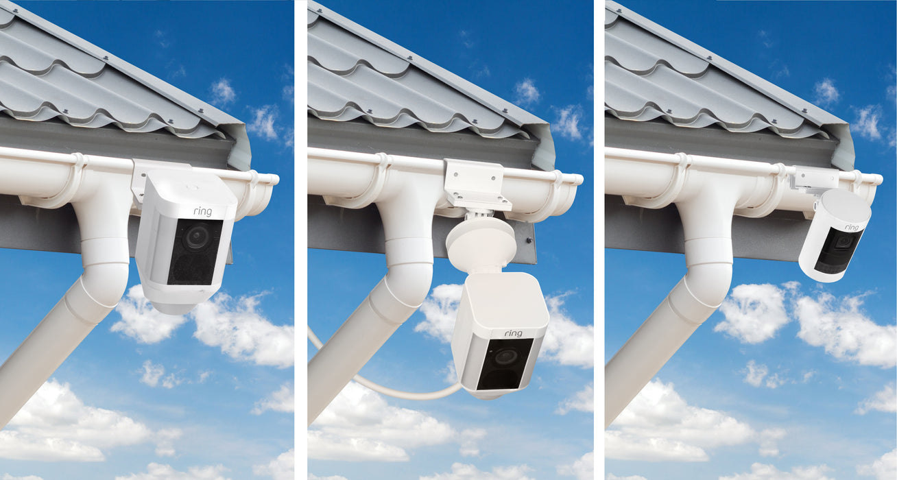 Weatherproof Gutter Mount for Ring Spotlight Cam | Wasserstein Home