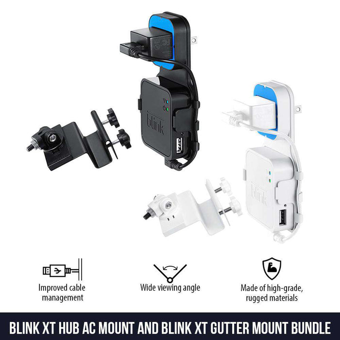 AC Outlet Mount Compatible with Blink XT2 Camera Sync Module and Gutter Mount for Blink XT2 Outdoor Bundle - Perfect Accessories for Your Blink Home Security System | Wasserstein Home