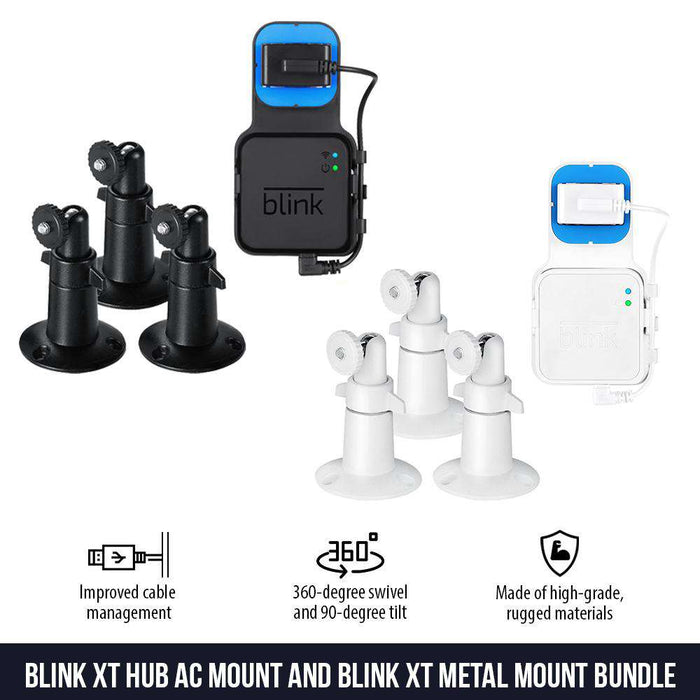 AC Outlet Mount Compatible with Blink XT2 Camera Sync Module and 3-Pack Metal Mount for Blink XT2 Indoor and Outdoor Bundle - Perfect Accessories for Your Blink Home Security System | Wasserstein Home