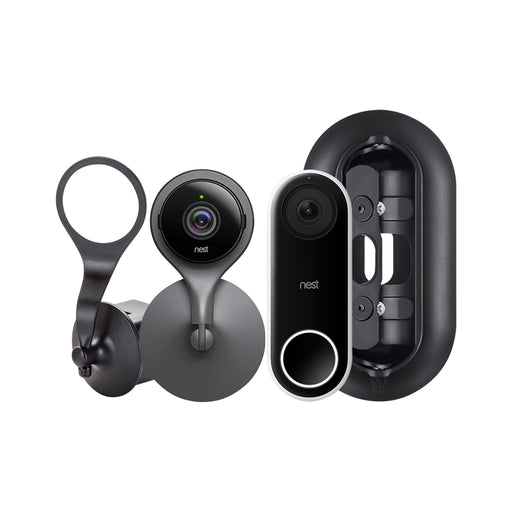 Nest Cam Indoor and Nest Hello Video Doorbell with Mount Bundle