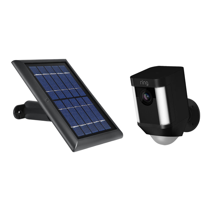 Ring Spotlight Cam Battery with Solar Panel Bundle