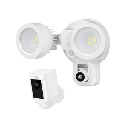 Ring Spotlight Cam Battery with Floodlight Bundle