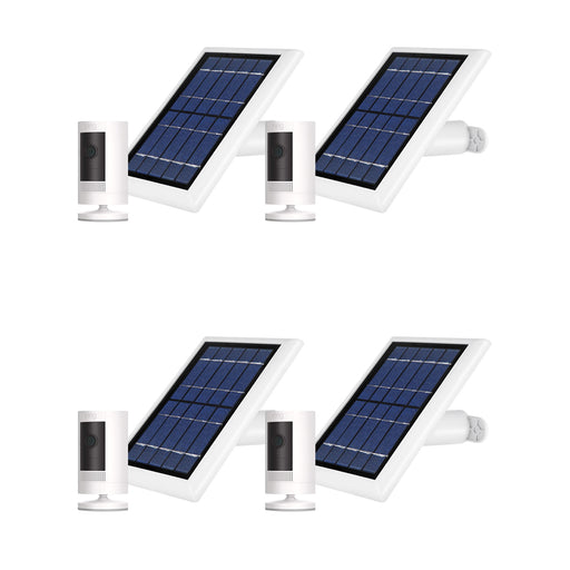 Ring Stick Up Cam Battery with Solar Panel Bundle