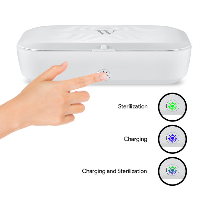 UV Phone Sanitizer and Disinfection Box with Wireless Charger