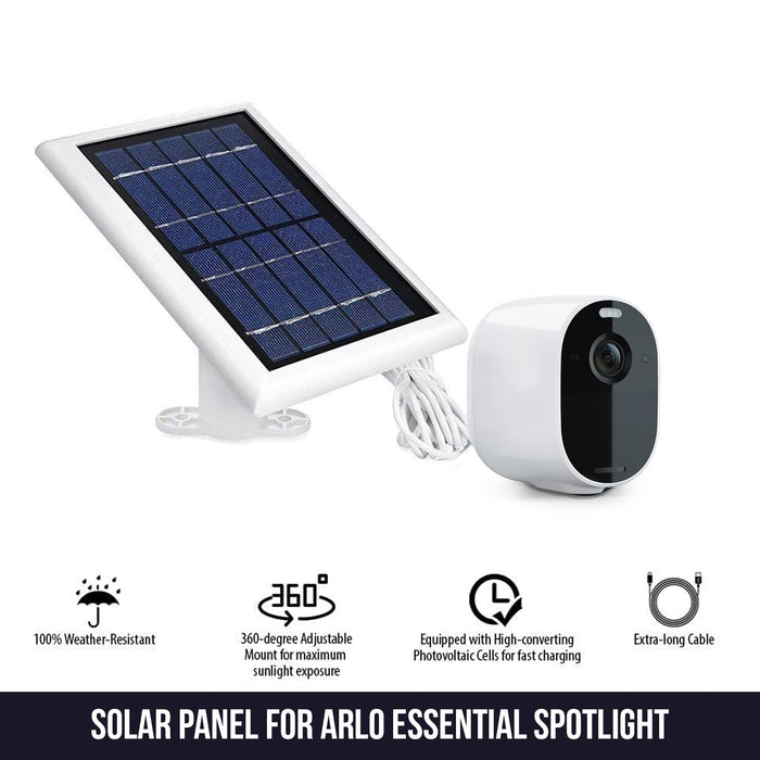 Arlo Essential Solar Panel - Power Your Arlo Camera Continuously