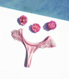 pink lace cheeky thong bikini