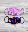 Print reversible face mask. Swimwear.