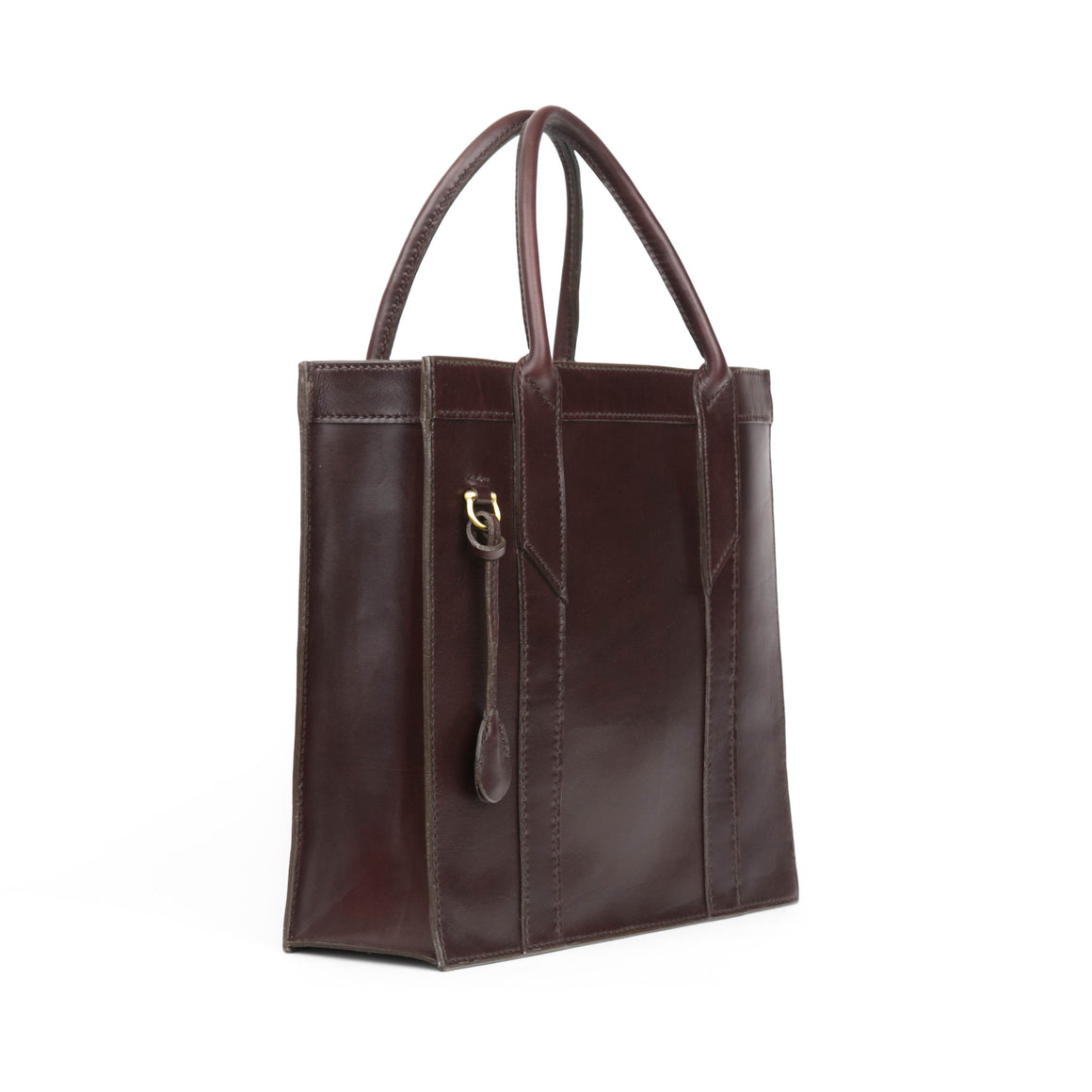 Box Tote in Brown