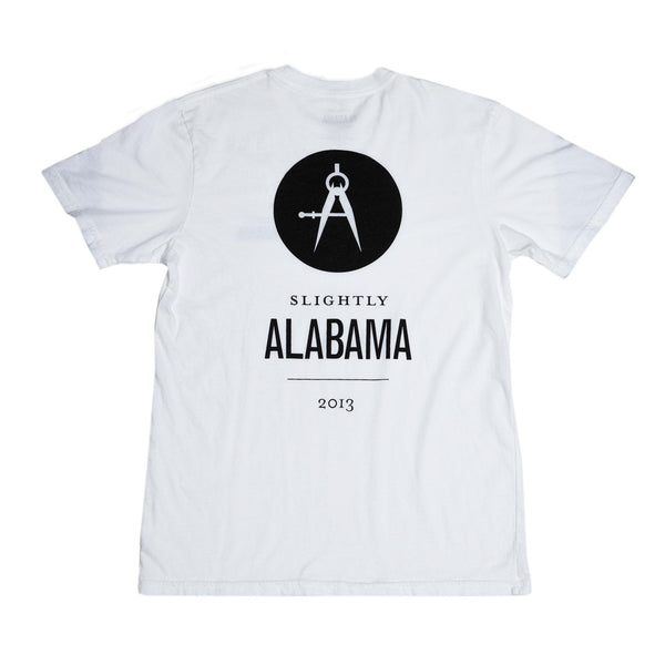 Slightly Alabama Logo T-Shirt (White)