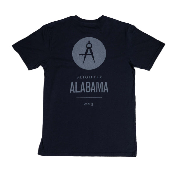 Slightly Alabama Logo T-Shirt (Black)