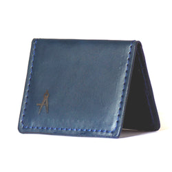 Fold-over Card Wallet (Navy)