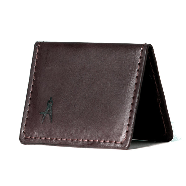 Fold-over Card Wallet (Dark Brown)