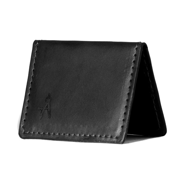 Fold-over Card Wallet (Black)