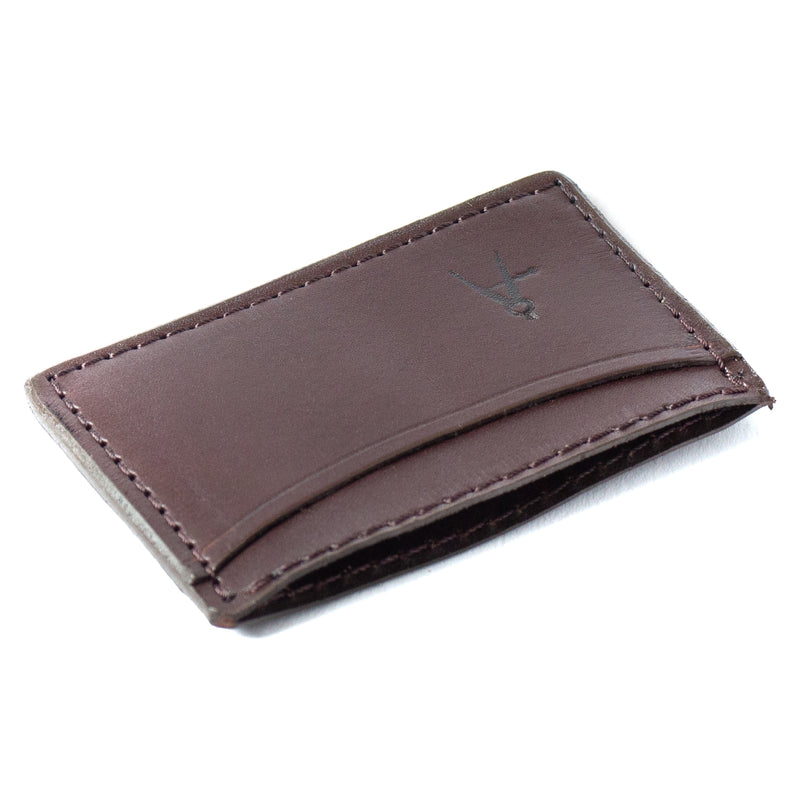 3-Pocket Card Case (Dark Brown)