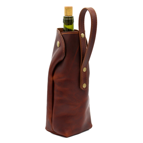 Wine Tote (Antique Brown)