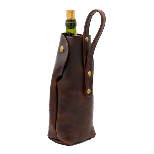 Wine Tote (Dark Brown)