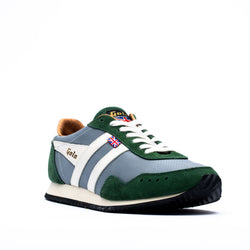 Gola Track Mesh 317 Trainers Grey/Green/Off White