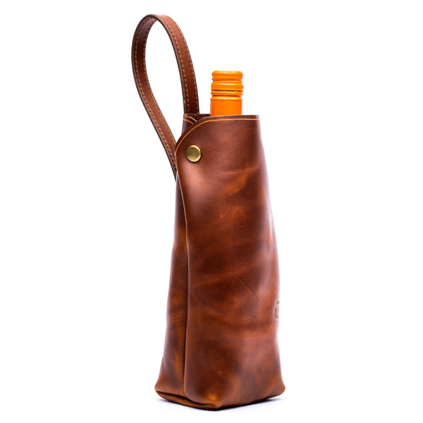 Wine Tote (Antique Tan)
