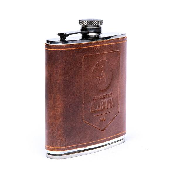 Hip Flask (Antique Tan)