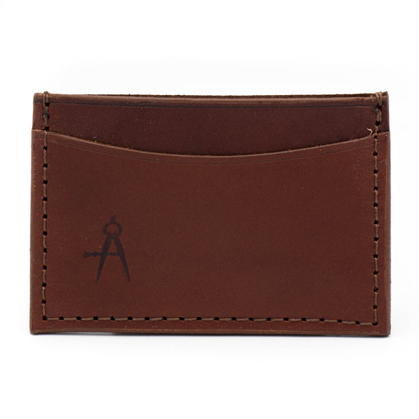 3-Pocket Card Case (Medium Brown)