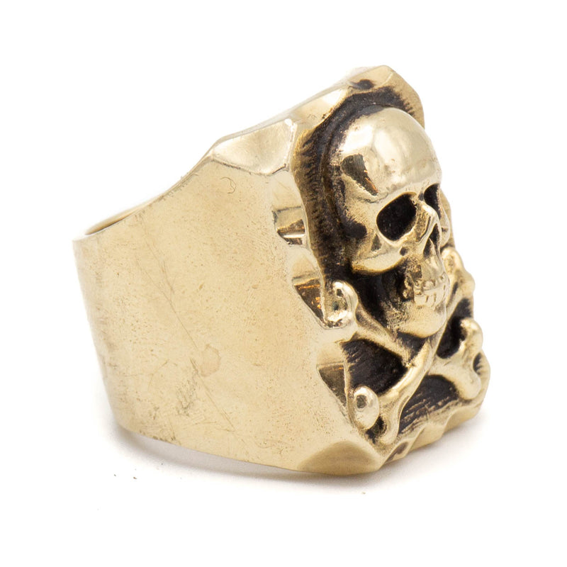 Skull & Bones Ring (Brass)