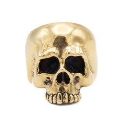 Hooligan Skull Ring (Brass)