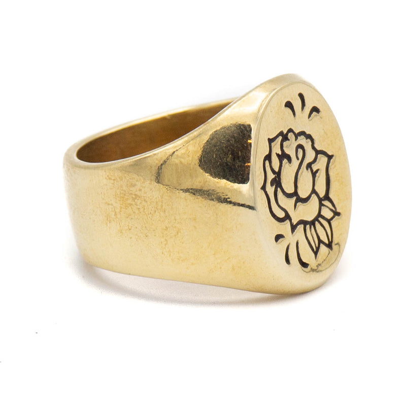 Rose Maven Signet Ring (Brass)