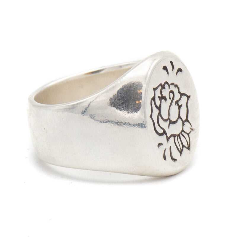 Rose Maven Signet Ring (Silver)