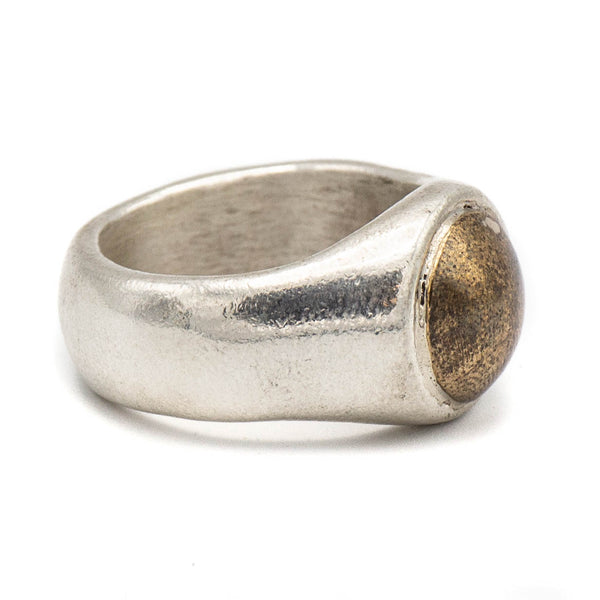 Brass Top Ring (Sterling Silver)