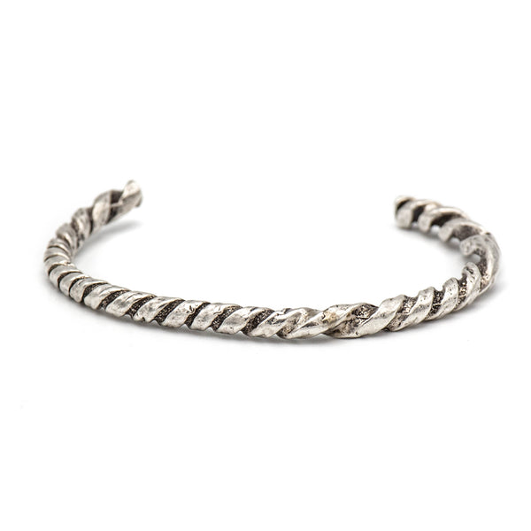 Twisted Rope Bracelet (Silver)