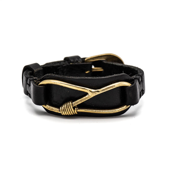 Brass S-Loop Bracelet (Black)