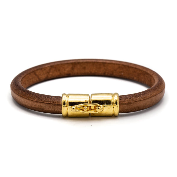 Single Cuff Leather Bracelet (Tan)