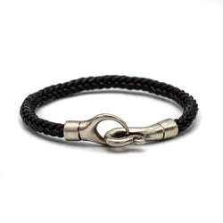 Single Wrap Braided Bracelet (Black)