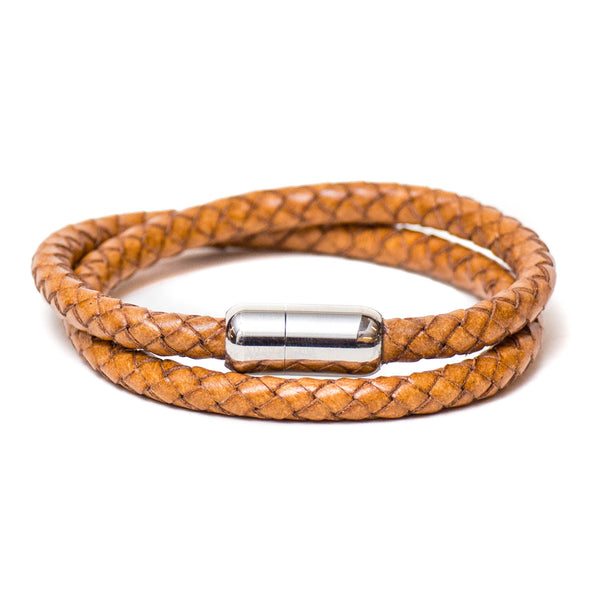 Braided Double Wrap Bracelet (Natural)
