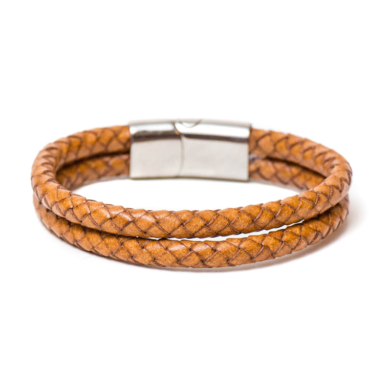 Double Braided Single Wrap Bracelet (Natural)