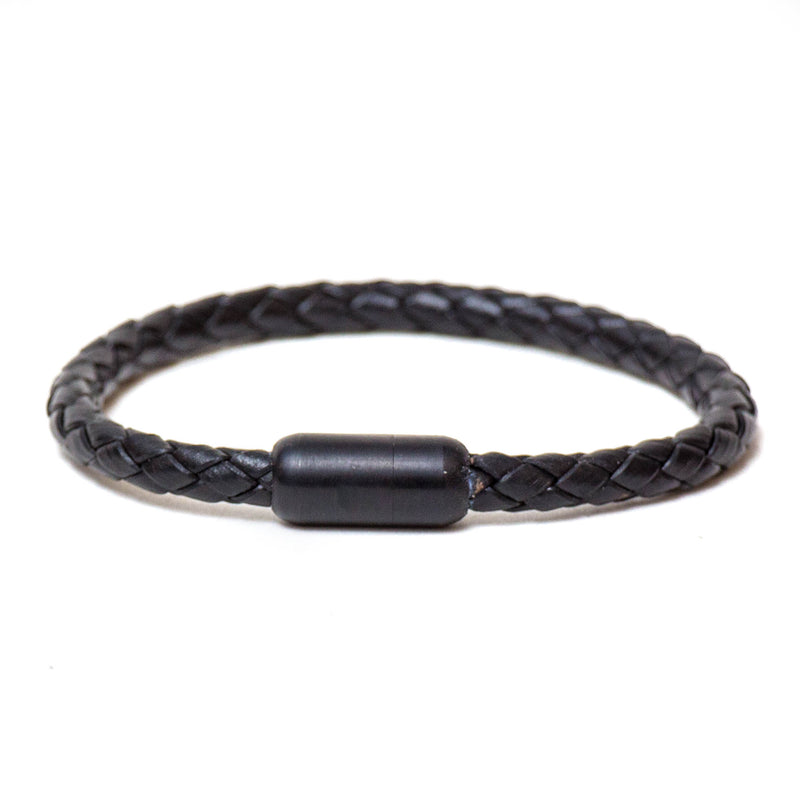 Braided Single Wrap Bracelet (Black)