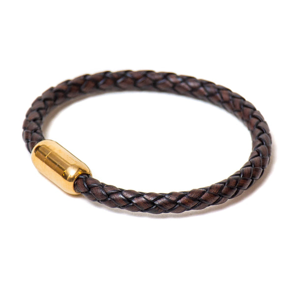 Braided Single Wrap Bracelet (Brown)
