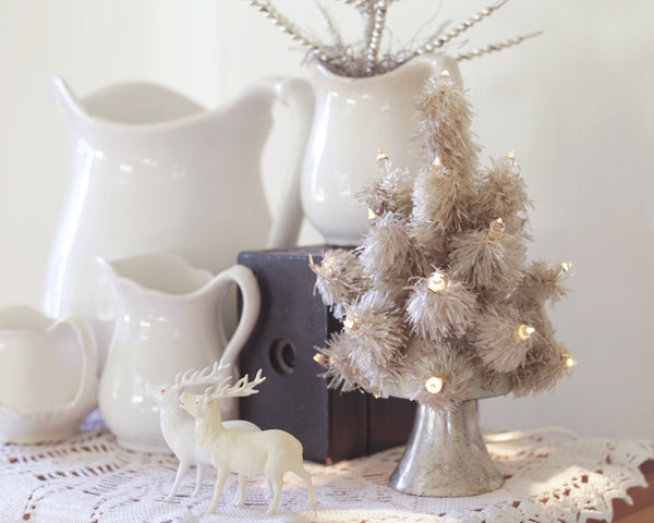 From my Treasure Box: Vintage White Christmas Decor