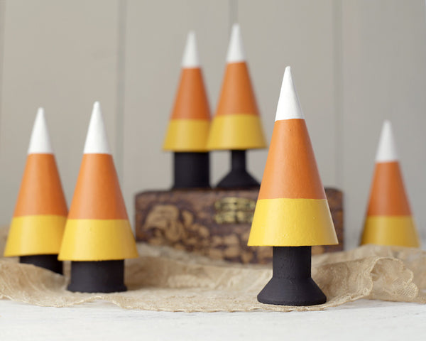 Tutorial: Halloween Candy Corn Trees