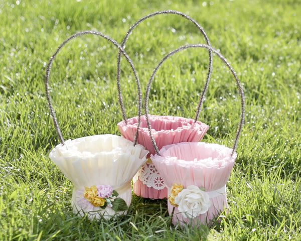 Tutorial: Crepe Paper Easter Baskets
