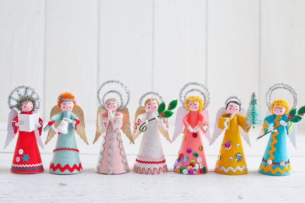 Retro Felt Angels - DIY Vintage Style Christmas Craft