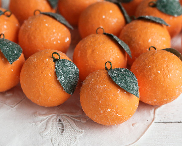 How to Make a Sugared Orange Spun Cotton Ornament