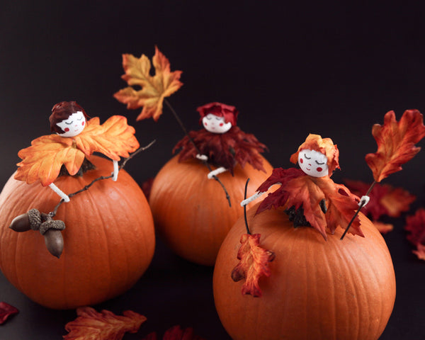 Fall Pumpkin Crafts: Turn a Pumpkin into an Autumn Fairy!