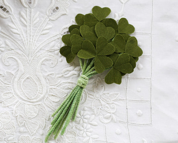 DIY Paper Shamrock Corsage for St. Patrick's Day