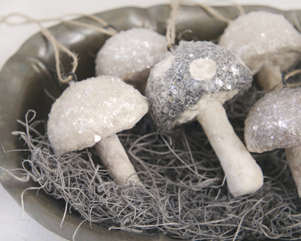 How to Make Spun Cotton Mushrooms