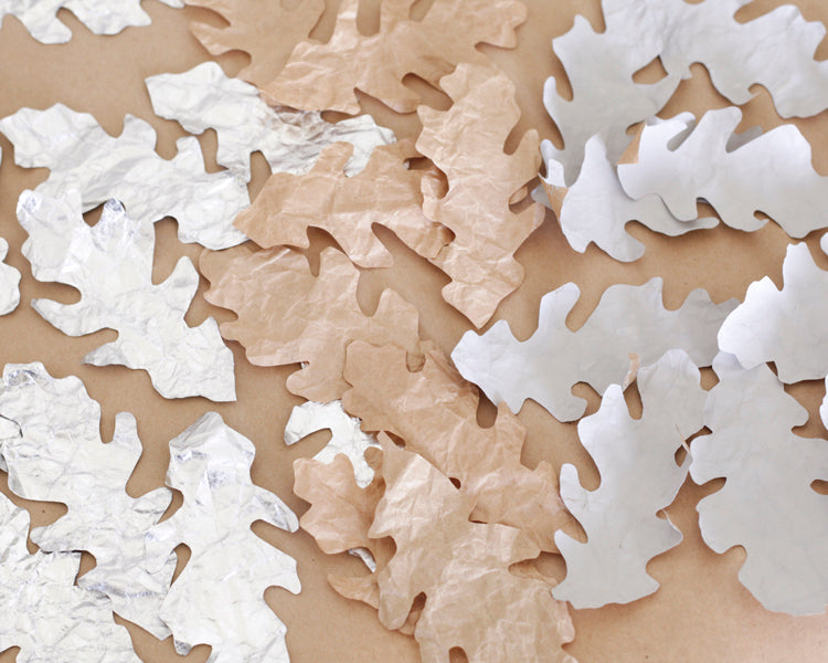 Paper Oak Leaves and Acorns Tutorial