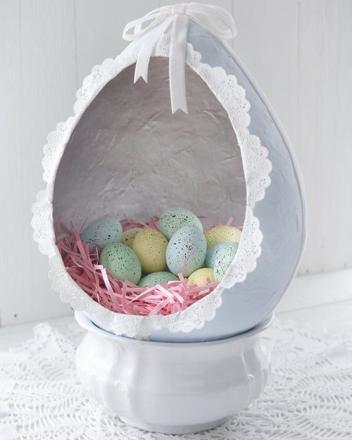 Paper Mache Easter Egg Diorama Smile Mercantile Craft Co