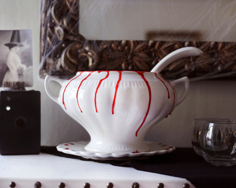 Festive Halloween Cocktail Recipe and Spooky Punch Bowl
